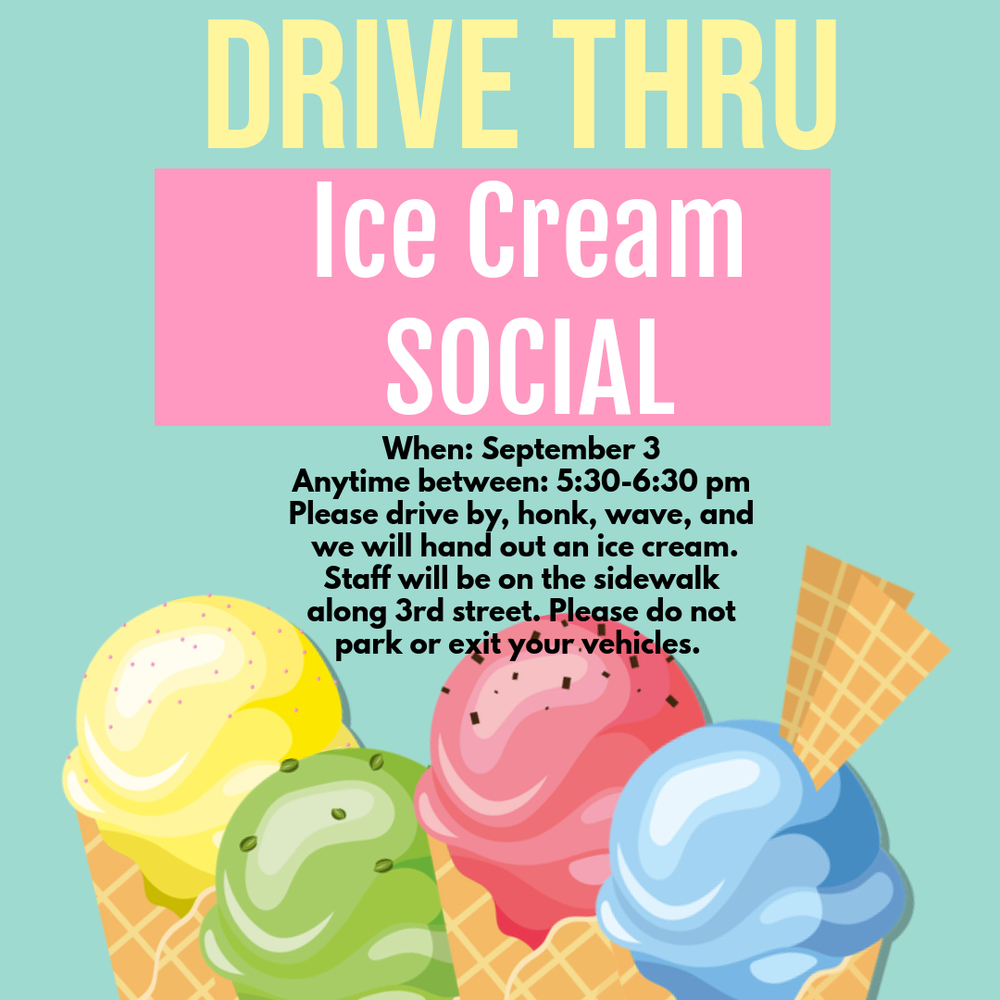 Drive thru Ice Cream Social